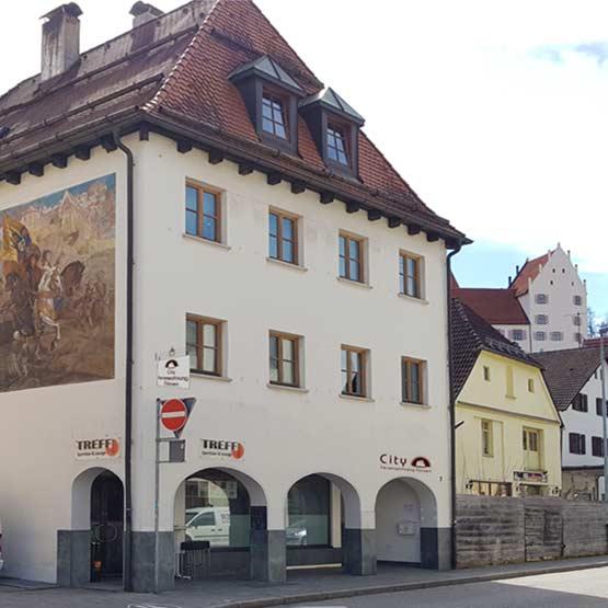 Herrlicher Ausblick zum Hohen Schloss in Füssen