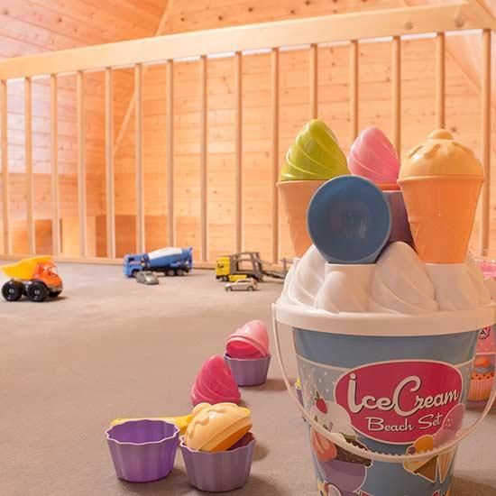Ferienwohnung: Foto Galerie mit Spielzeug