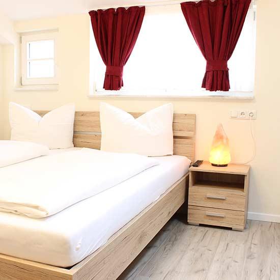 Ein Zimmer des Garni City Hotel Füssen